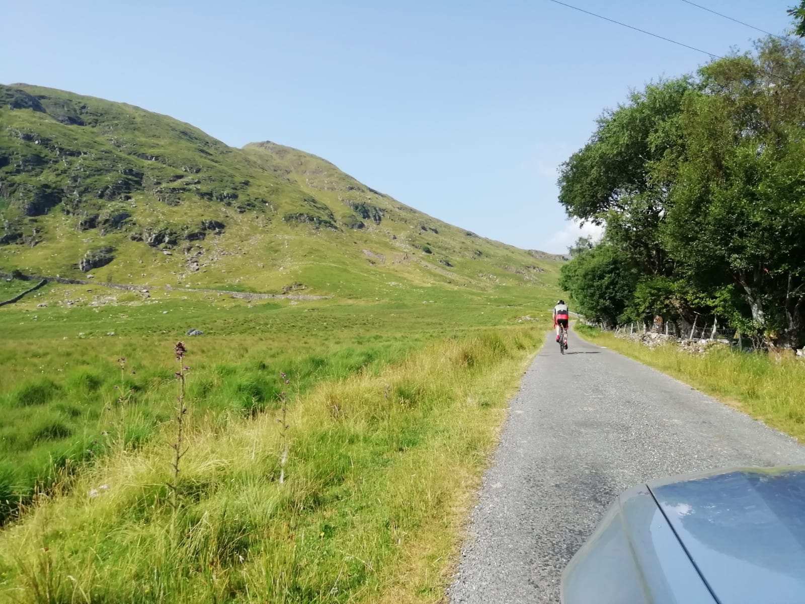Cycling up Ail Dubh