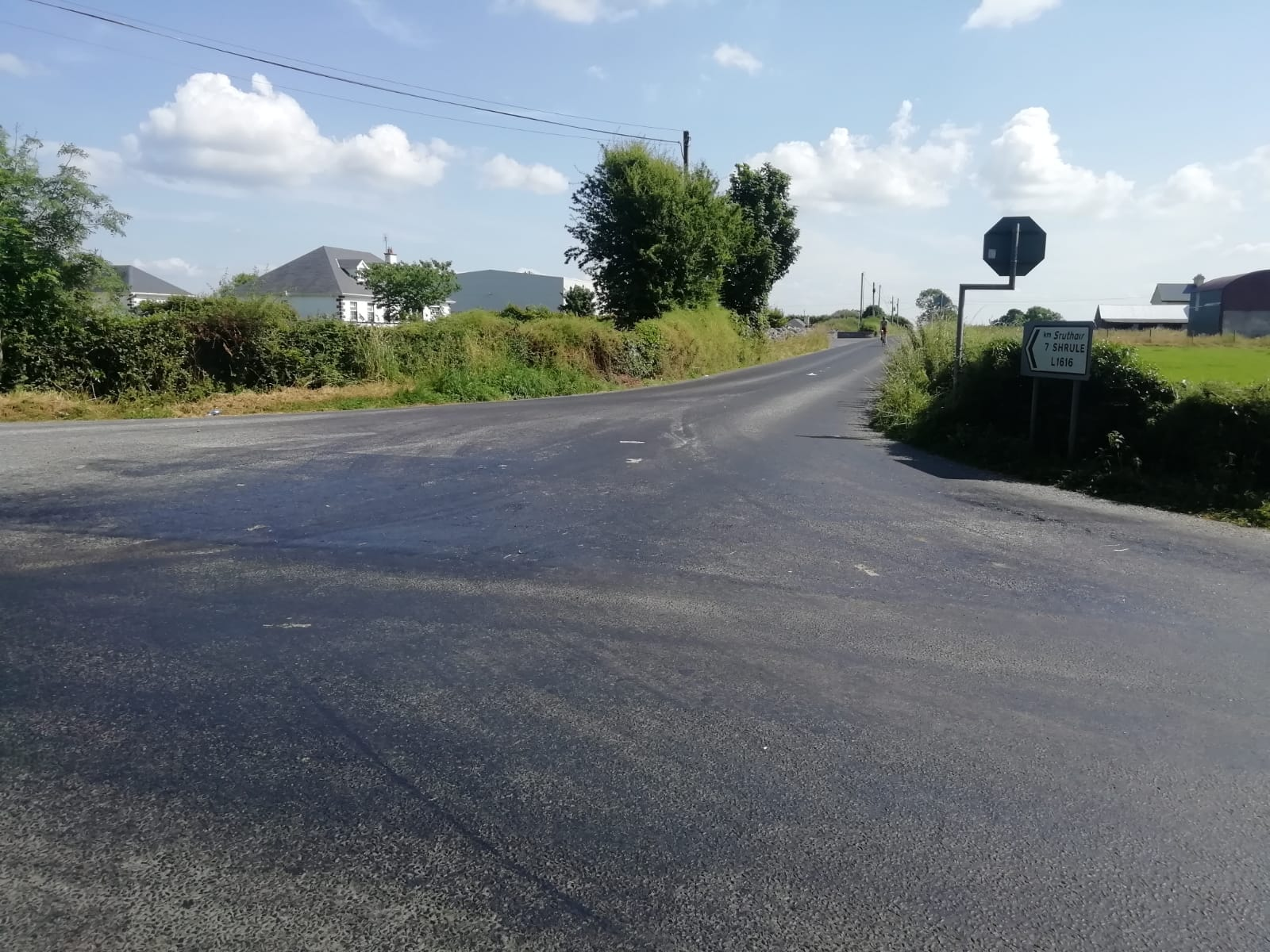 Melted roads in east Mayo